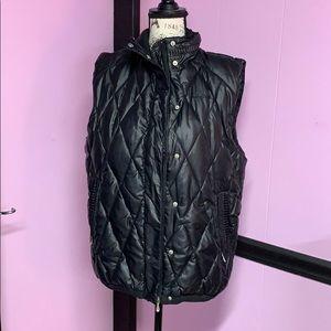 Pelle Pelle Black puffer vest size XL